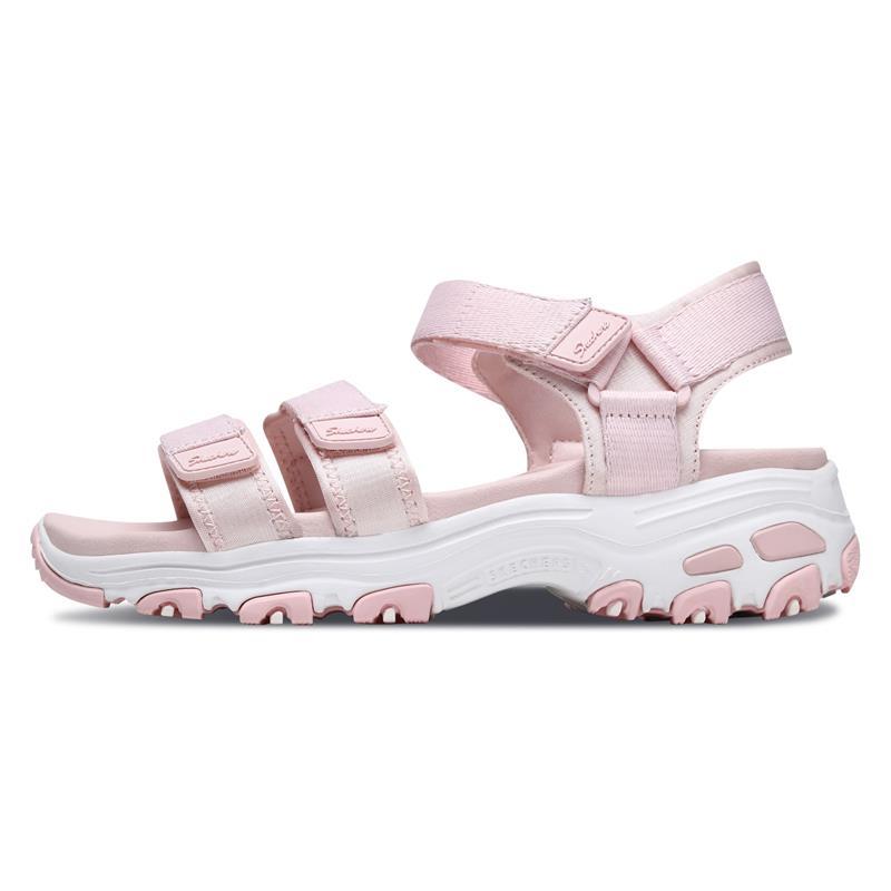 skechers pink sandals