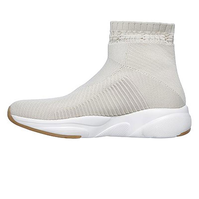 Details about Skechers Women's Slip On High Top Shoes Meridian On The Rise 13014 Natural